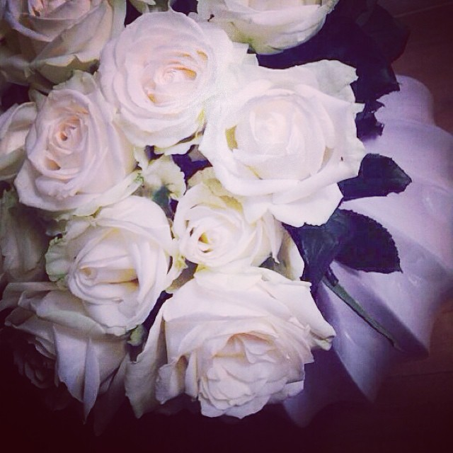 #white #roses #today #love