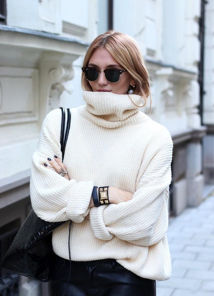 Le-Fashion-Blog-Ray-Ban-Clubmaster-Sunglasses-Oversized-Turtleneck-Sweater-Croc-Tote-Bag-Leather-Cuff-Via-Modette-Josepfin-Dahlberg